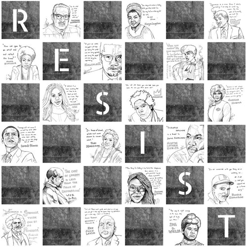 Resist Coloring Book