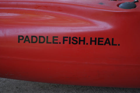 PADDLE. FISH. HEAL. Decal