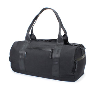 Black Barrel Duffel Side Zipper Pocket 24 L