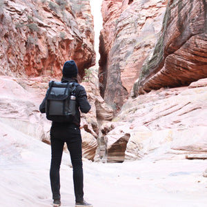 Zions Hike Grey Roll Top Backpack