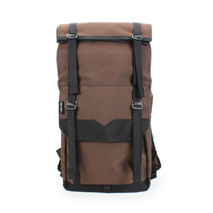 Brown Roll Top Backpack Fully Loaded
