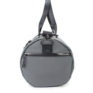 Grey Barrel Duffel Side View Grab Handles 24 L
