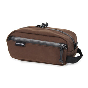 Brown Drop Caddy (Dopp Kit) Front Pocket