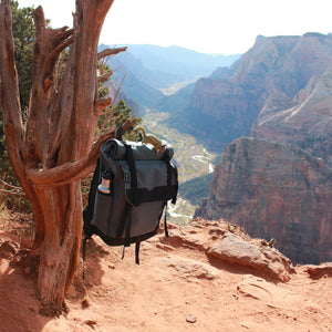 Zions Angels Landing View, Roll Top Backpack