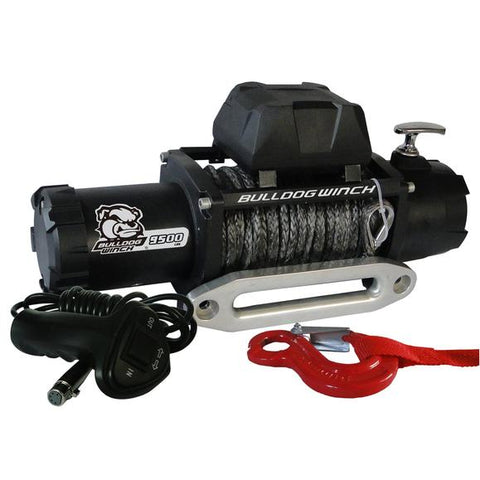 Bulldog Winch 9.5K with Synthetic Rope