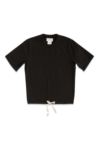Pocket Dolman Tee in Black