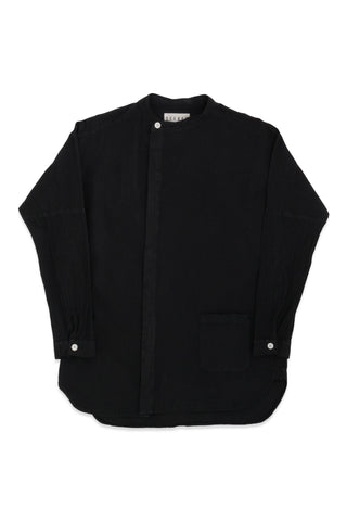 Raj Canvas Coat in Black