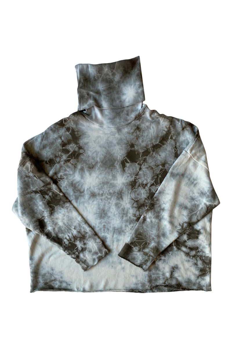Infinity French Terry Turtle Neck Vine Tie Dye