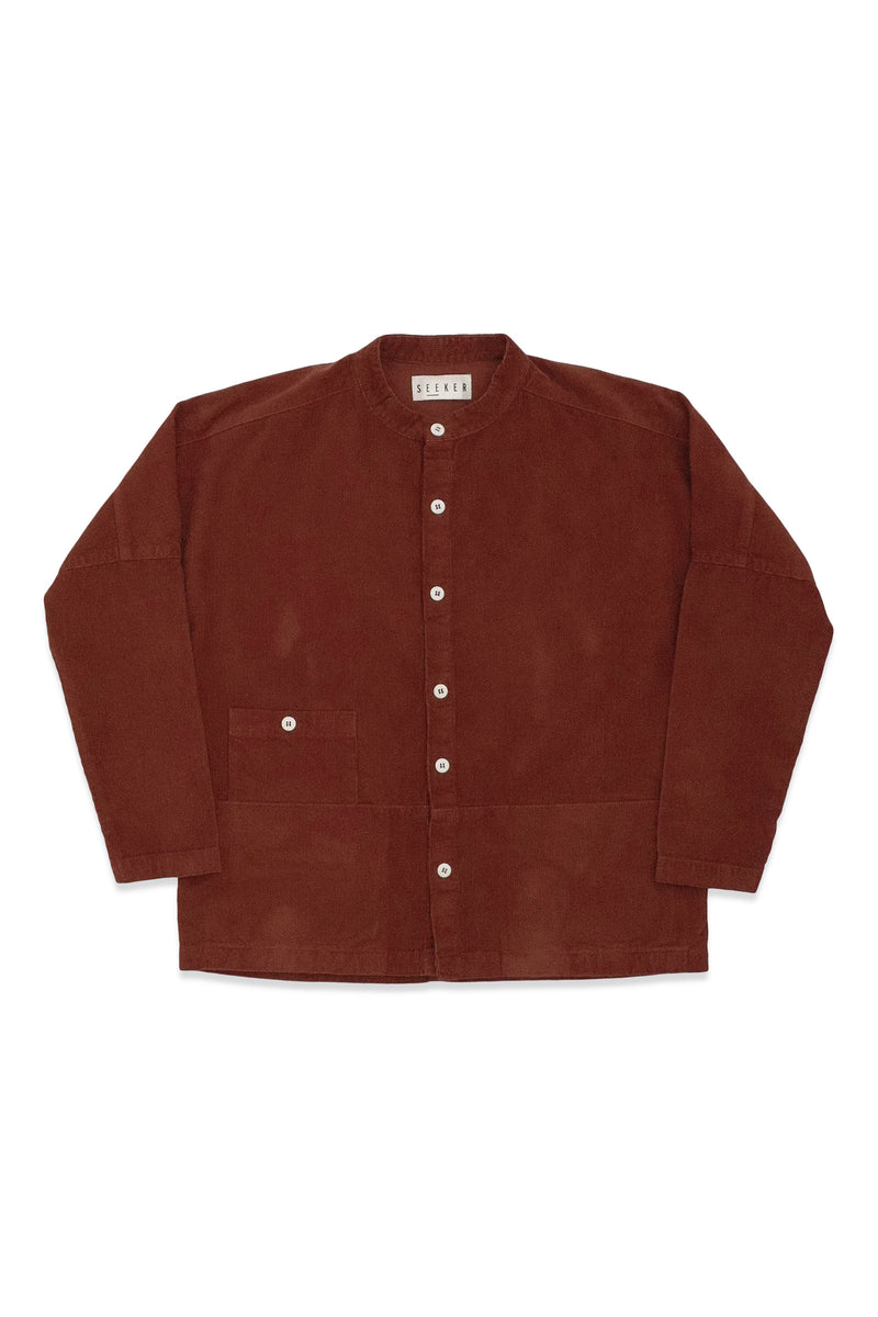 Raj Coat Corduroy in Rust