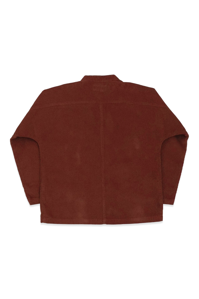 Raj Canvas Coat in Rust