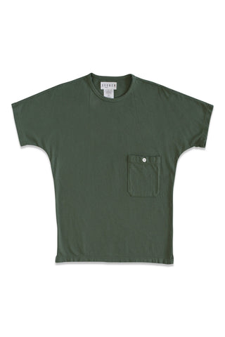 Pocket Dolman Tee in Slate