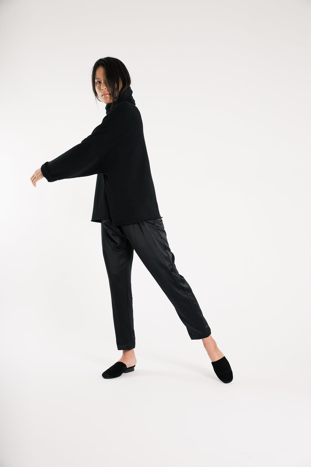Souk Silk Pant in Black
