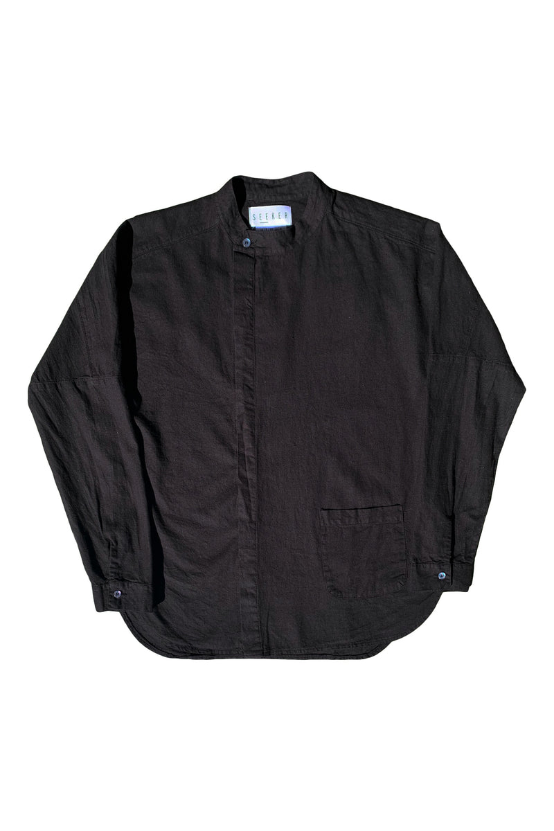 A Sym Button Up in Black