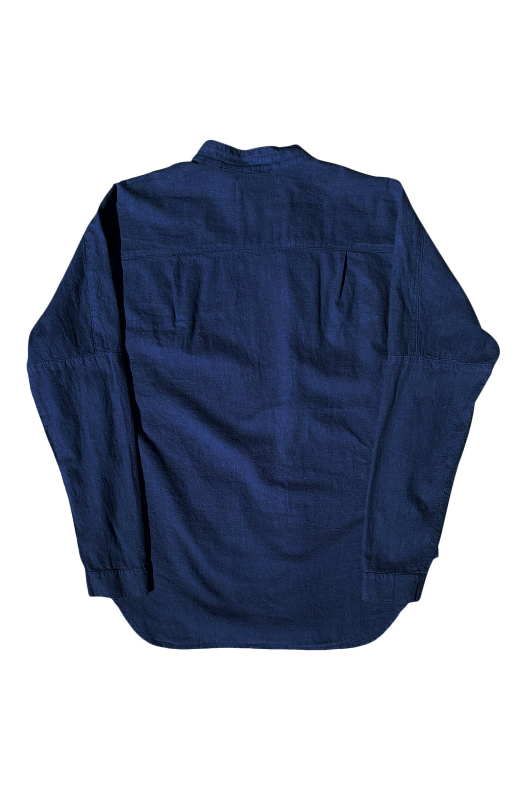 A Sym Button Up in Indigo