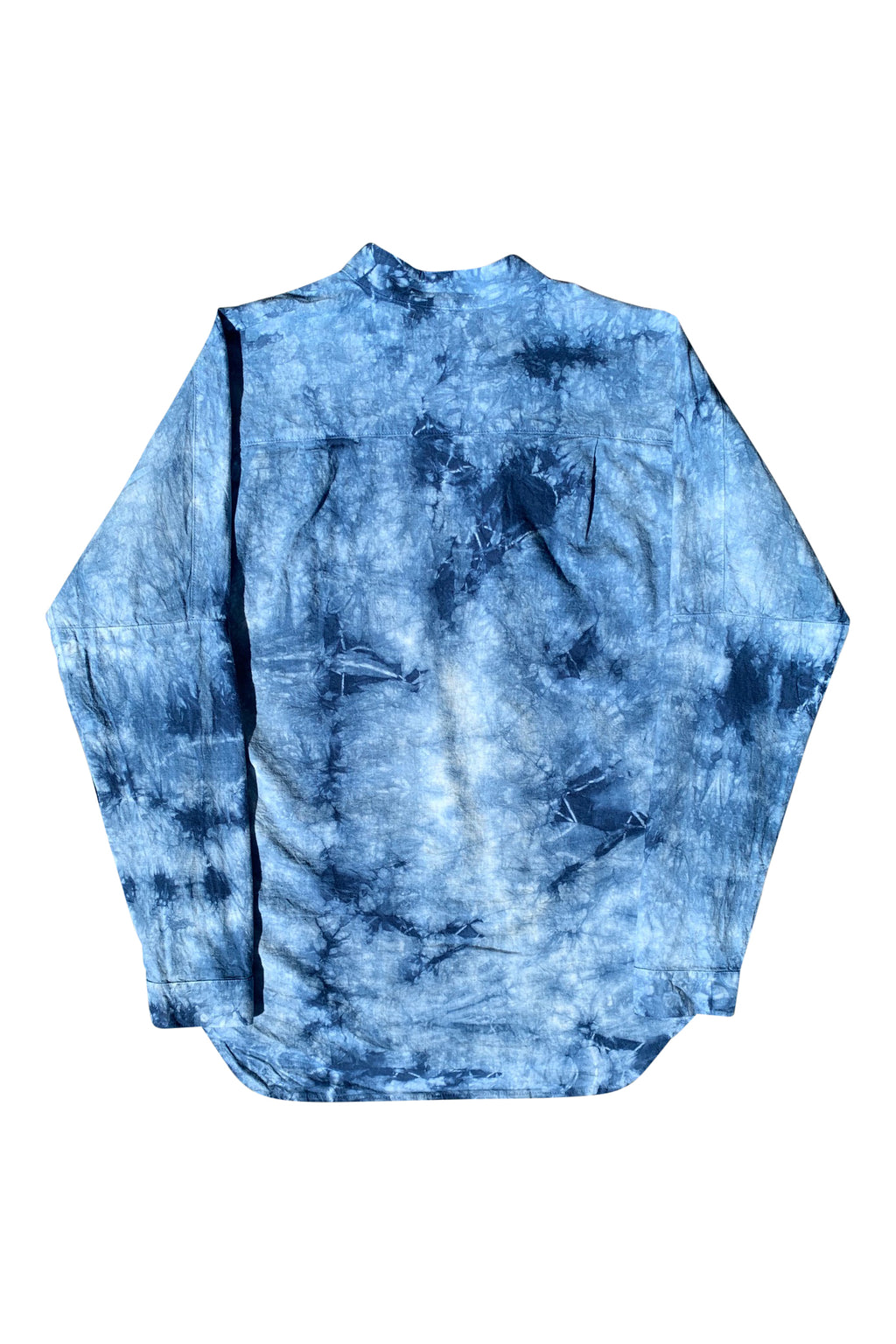 A Sym Button Up in Tie Dye Indigo