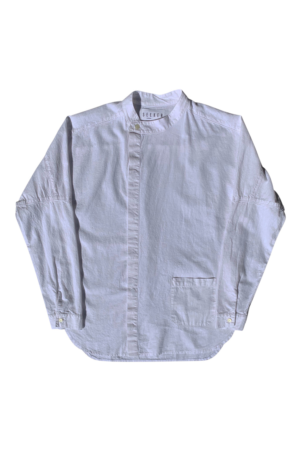 A Sym Button Up in White