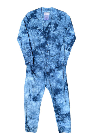 Jumpsuit in Black Indigo Tie Dye