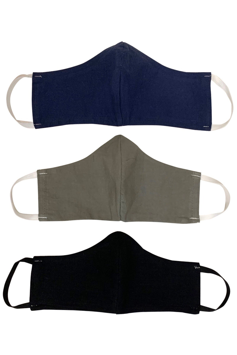 Organic Fabric Pocket Mask Black/Natural