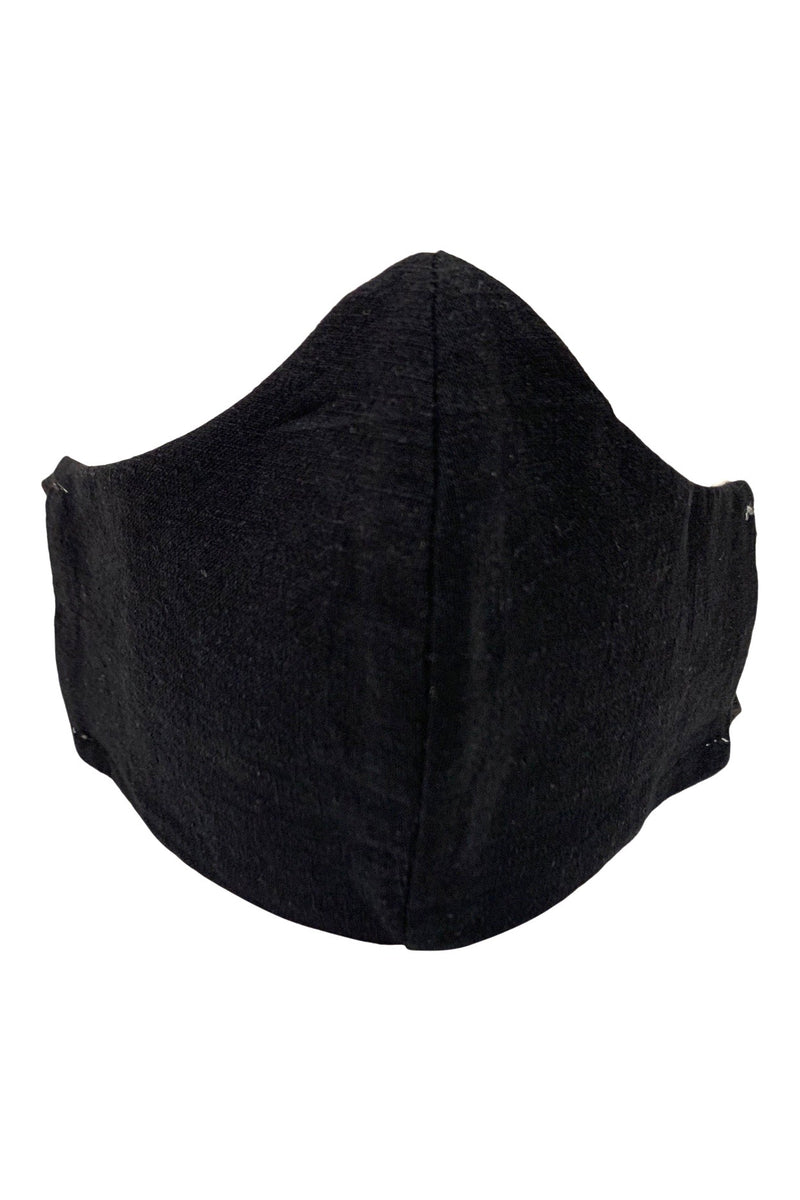 seeker hemp face mask reversible black front