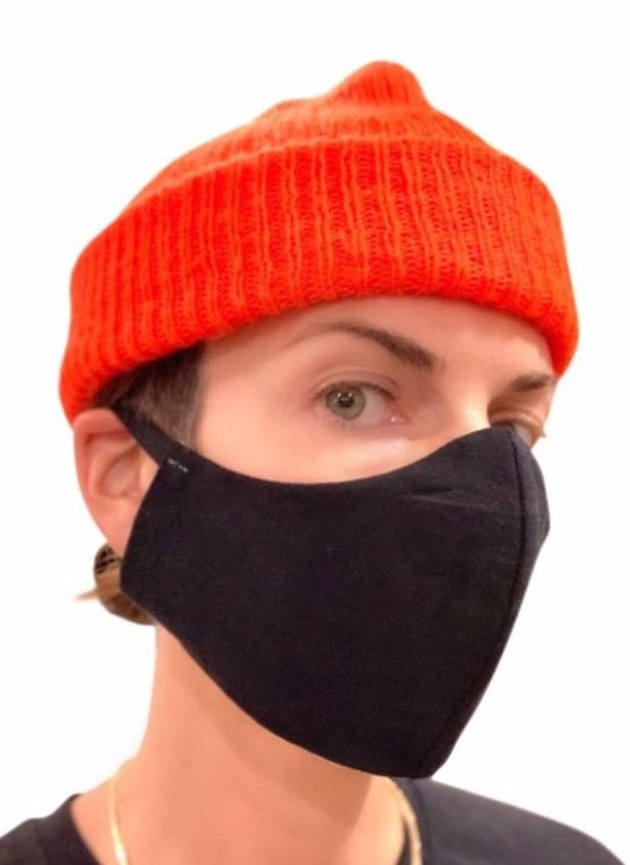 seeker hemp face mask reversible black