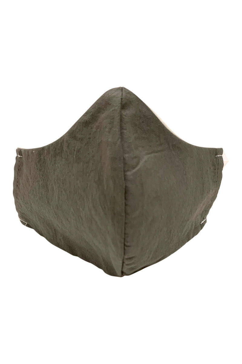 Organic Fabric Pocket Mask Grey/Natural