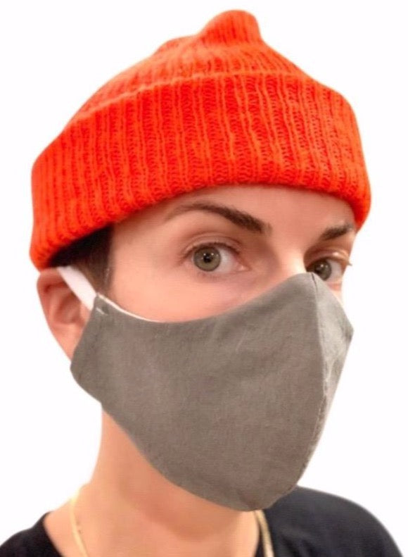 seeker hemp face mask reversible grey