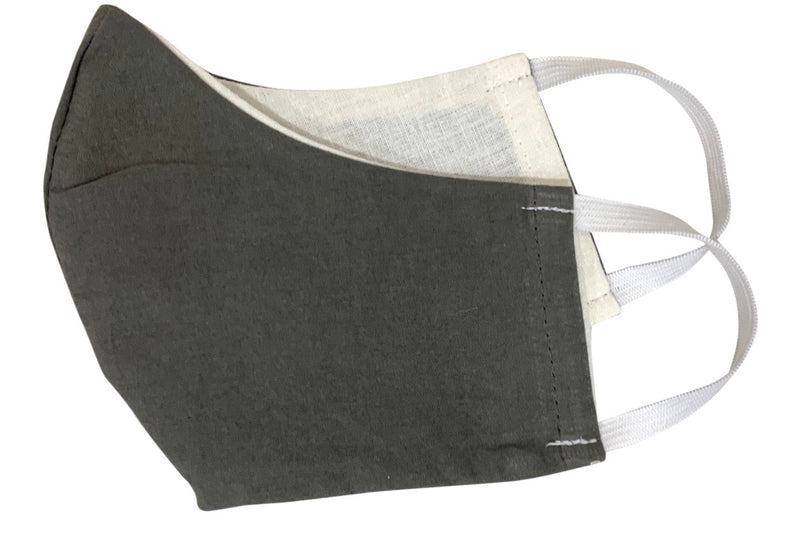 seeker hemp face mask reversible grey folded
