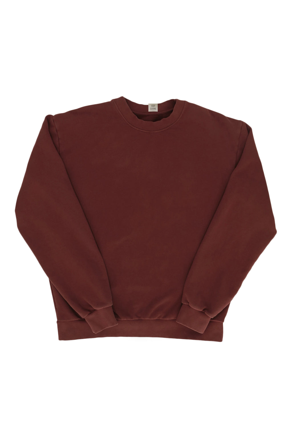 Flag Crew Sweatshirt Plum