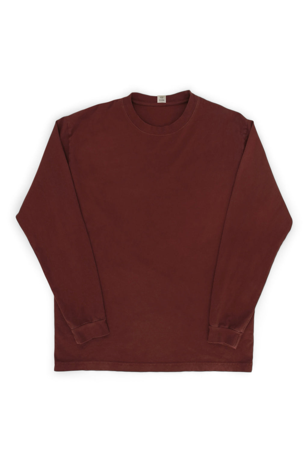 Flag Crew Long Sleeve Tee Plum