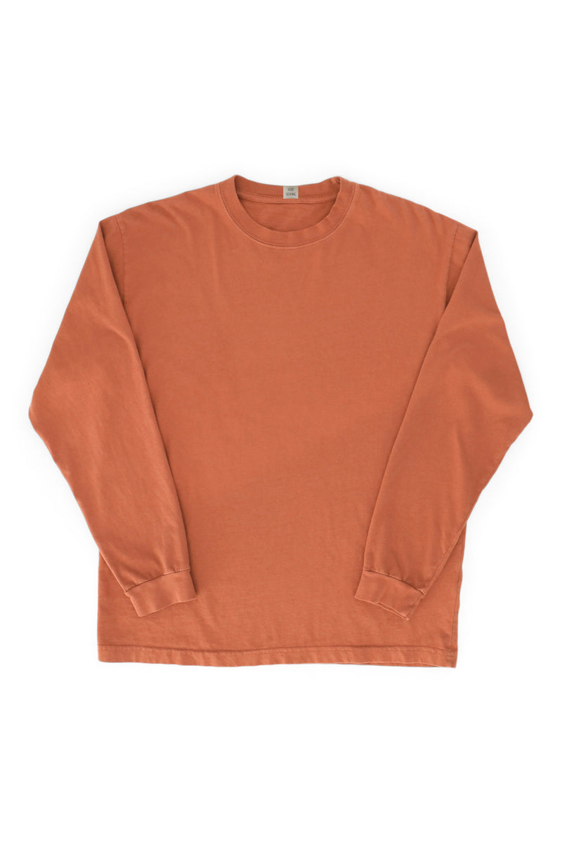 Flag Crew Long Sleeve Tee Terracotta