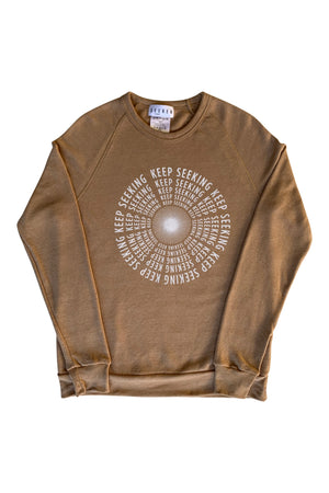 Keep Seeking Sweatshirt in Camel