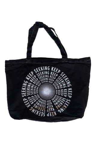 KEEP SEEKING TOTE BAG- GREEN TIE DYE