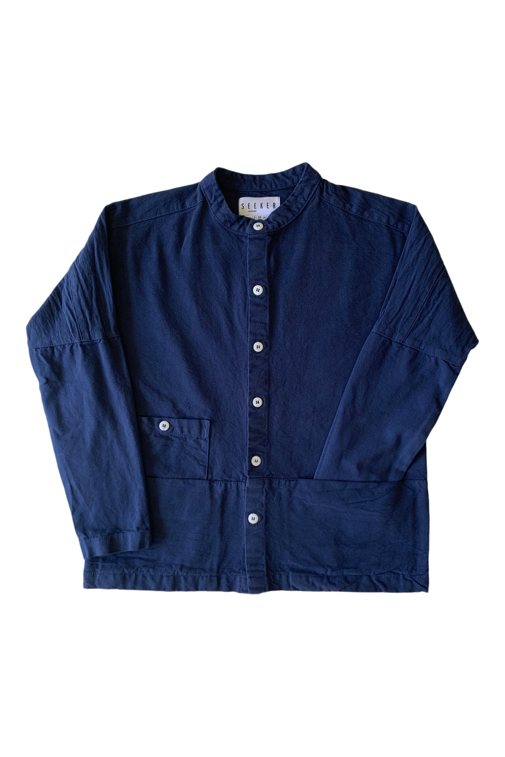 Raj Canvas Coat in Navy