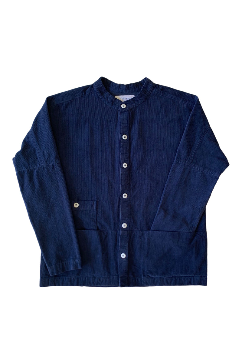 Raj Corduroy Coat in Navy