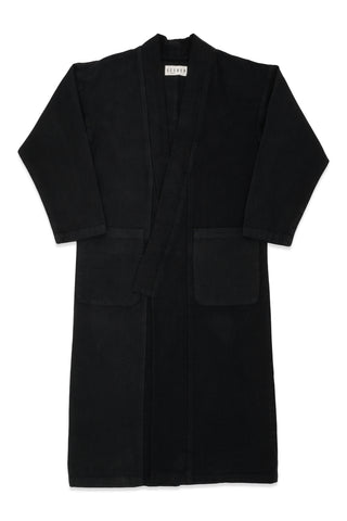 Raj Corduroy Coat in Black