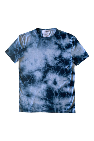 Infinity French Terry Turtle Neck Indigo Tie Dye