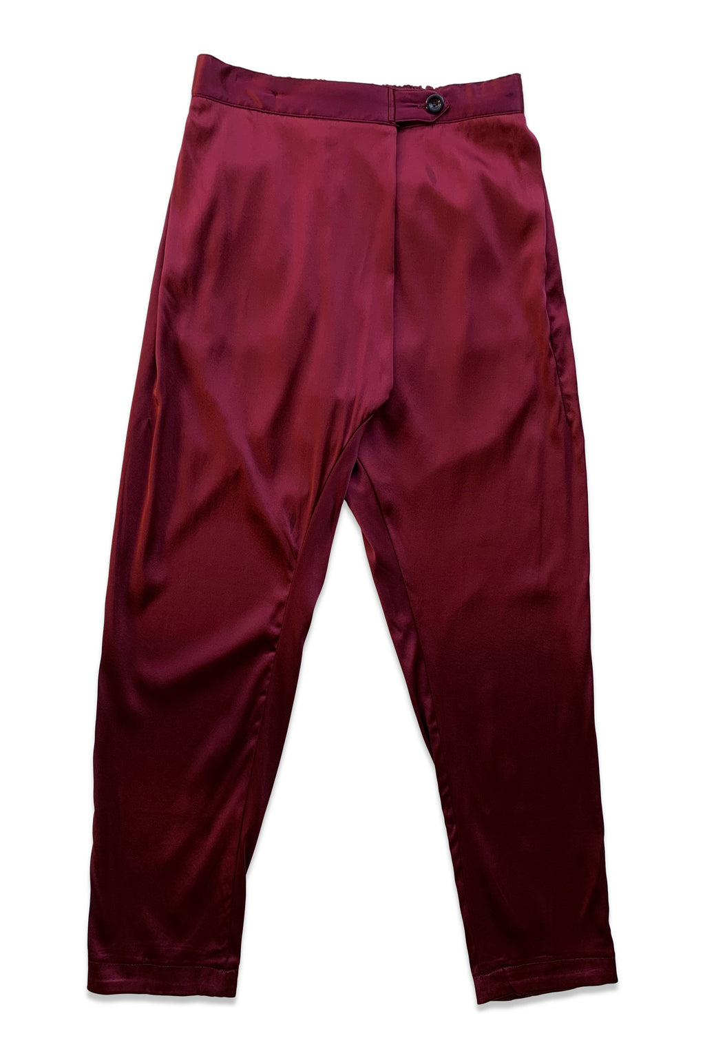 Silk Souk Pant in Oxblood