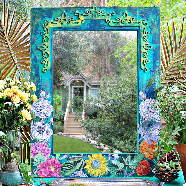 WF featured in DIY Vintage Botanical Mirror with Mark Montano