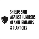 shields skin against hundreds of skin irritants & plant oils