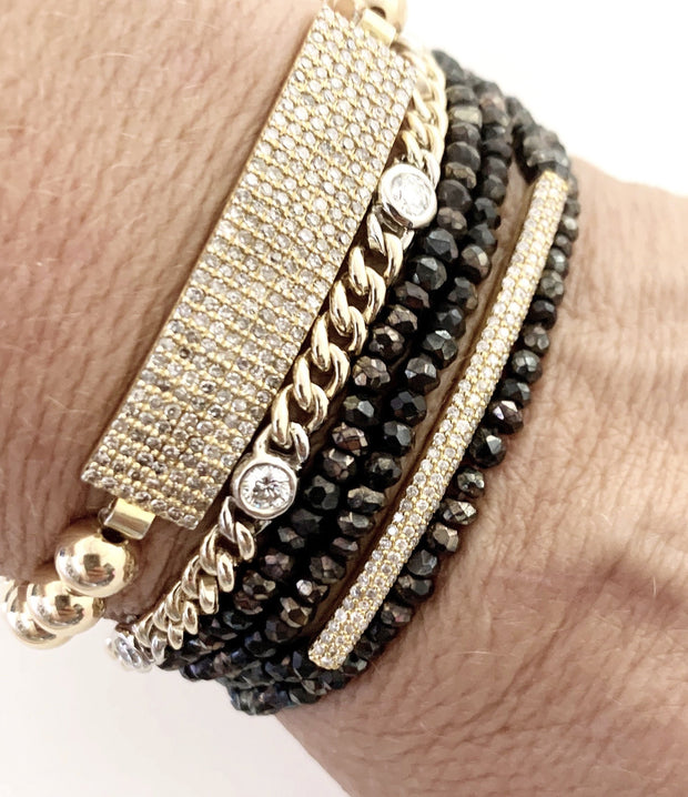 Diamond stacking bracelets