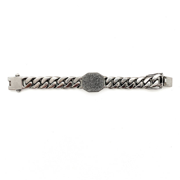 Large Diamond  Hexagon Bracelet - Caryn Michelle Designs