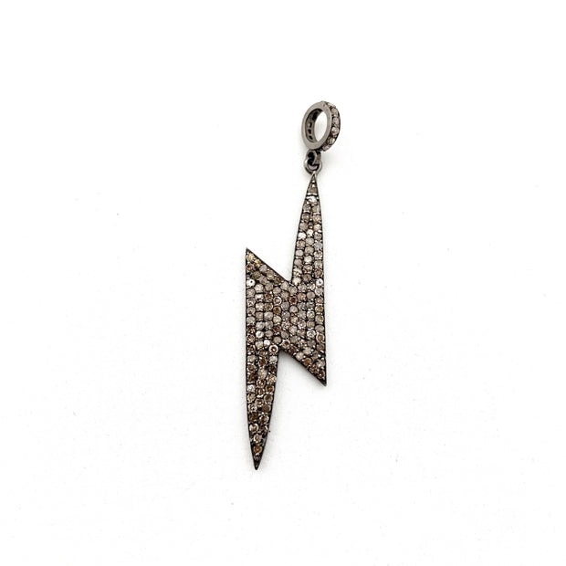 Diamond Lightning Bolt Pendant - Caryn Michelle Designs