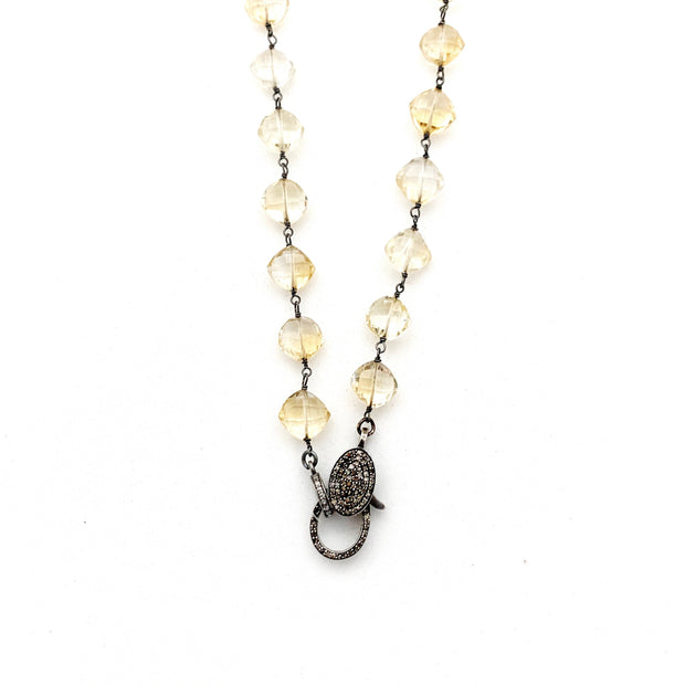 Citrine Chain With Diamond Clasp - Caryn Michelle Designs
