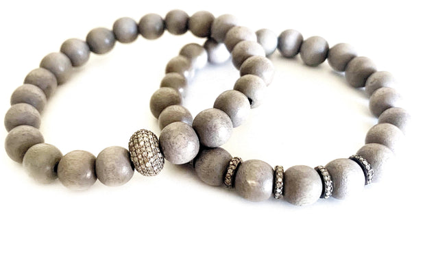 Grey Wash Beaded Bracelet