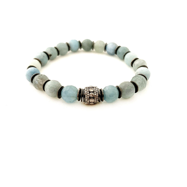Natural Aquamarine Bracelet - Caryn Michelle Designs