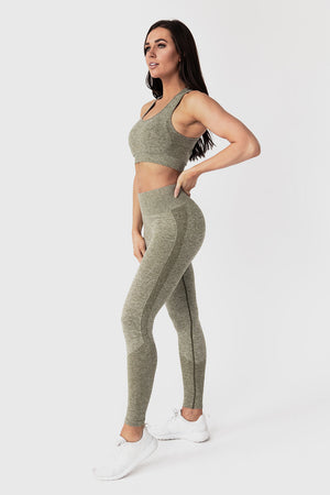 Seamless Sports Bra - Olive