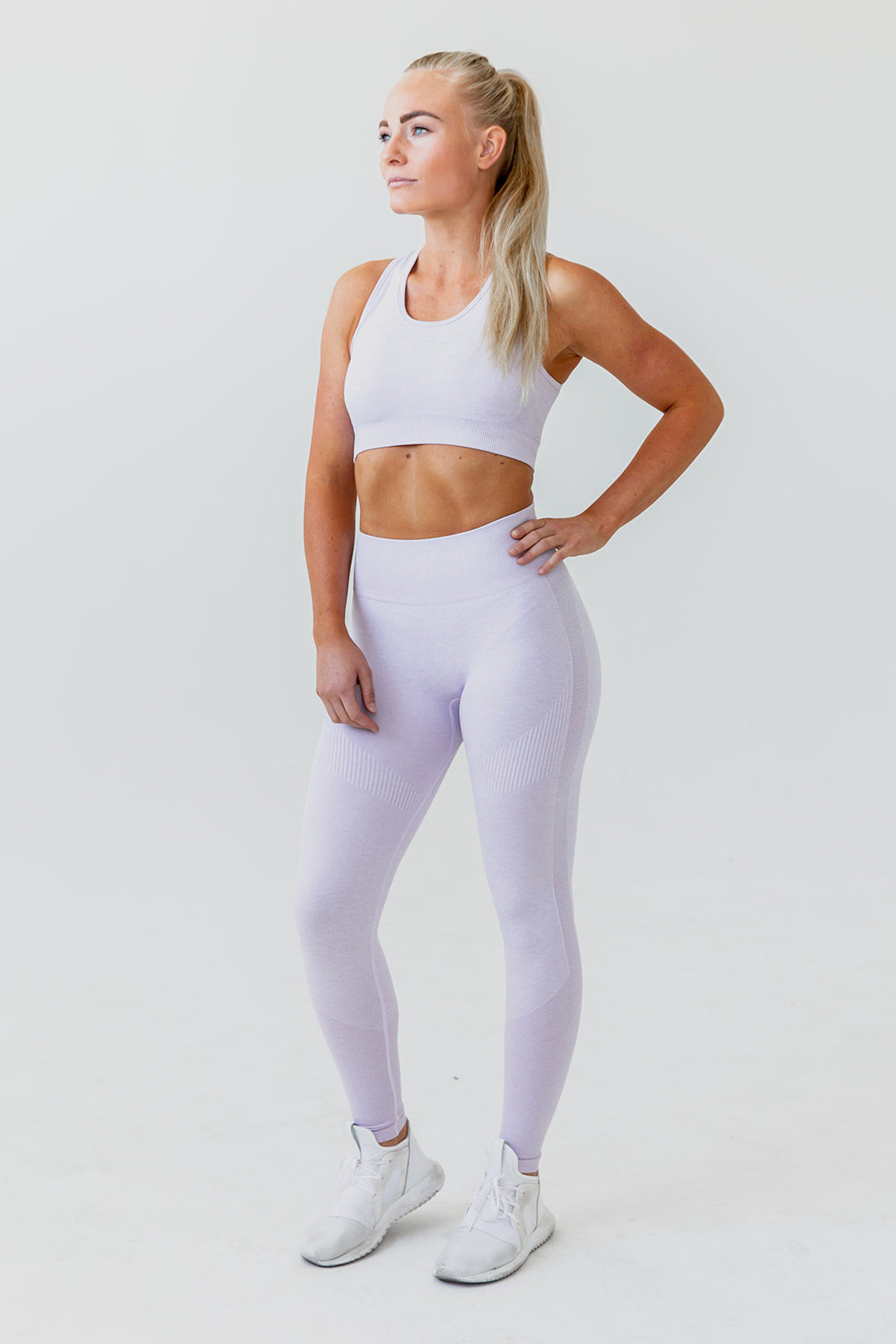 Seamless Sports Bra - Lilac - Final Sale