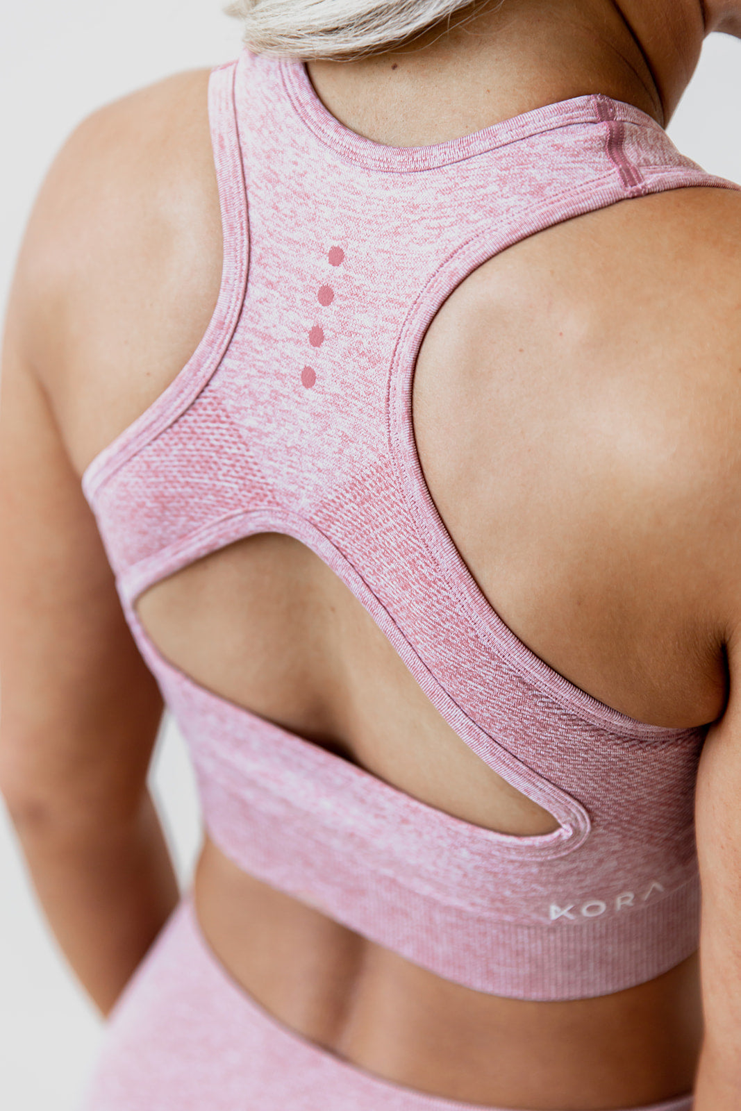 Seamless Sports Bra - Dusty Rose