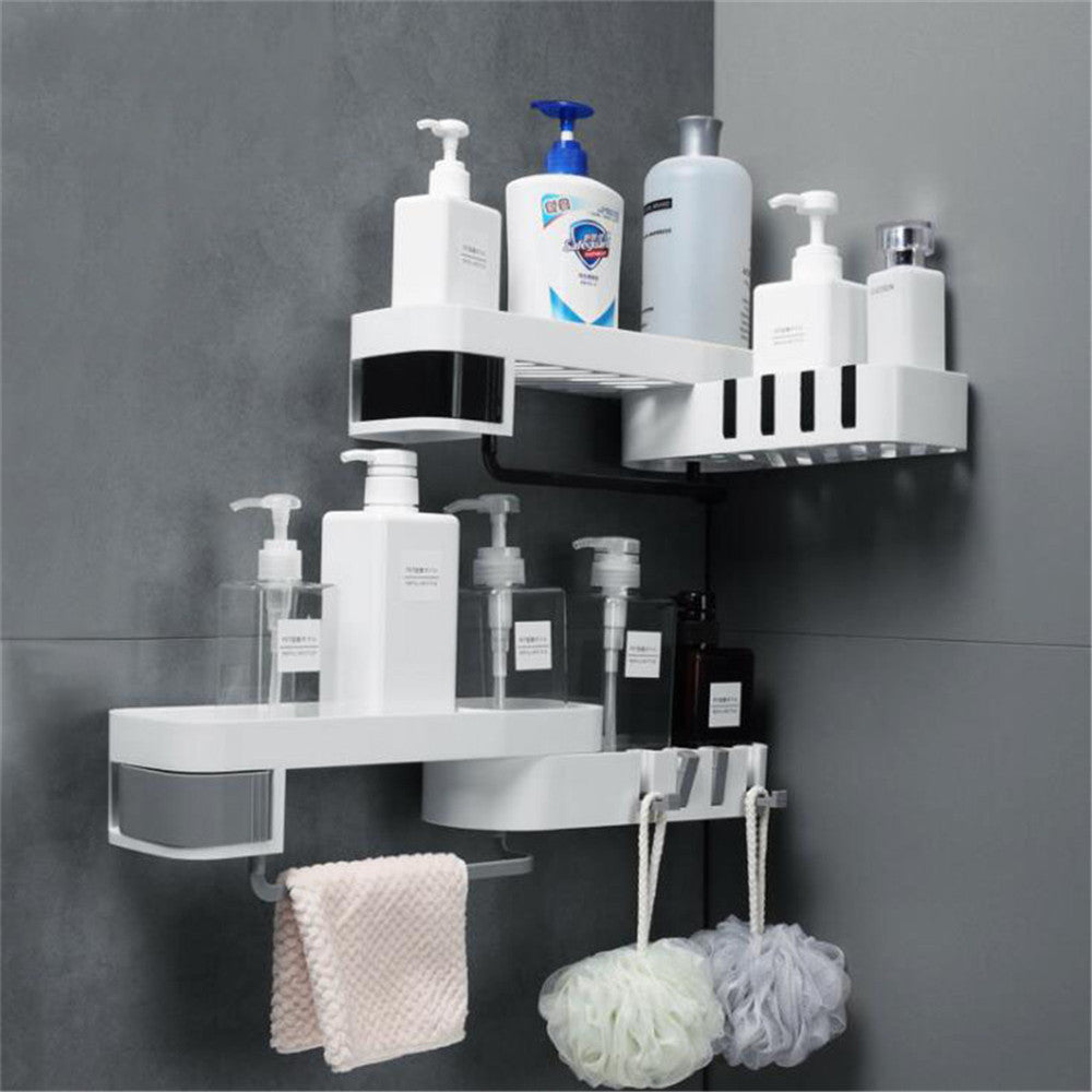 Salazons™ SEAMLESS ROTATING CORNER SHOWER SHELF - PERFECT ORGANIZER FOR YOUR HYGIENE ACCESSORIES