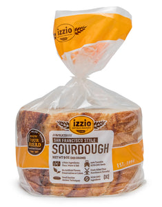 4 Packs of Izzio 8 Slice WHITE Variety - 2 x SAN FRANCISCO STYLE SOURDOUGH + 2 x ITALIAN COUNTRY (2Day FedEx Express FREE Shipping!)